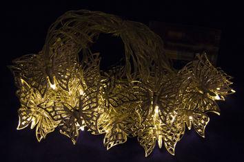 Светодиодная гирлянда Devilon в форме бабочки на батарейках 20 ламп 4.3 м теплый белый (652402) от Rozetka