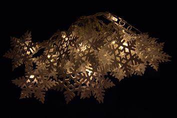 Светодиодная гирлянда Devilon в форме снежинки на батарейках 20 ламп 4.3 м теплый белый (652419) от Rozetka