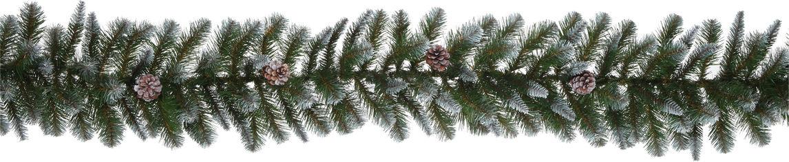 Гирлянда Triumph Tree Empress 270 см Зеленая с декоративными шишками и эффектом инея (8712799298088) от Rozetka