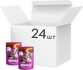 Упаковка влажного корма Whiskas для котов с индюшкой в соусе 24 шт по 100 г (4770608253172) от Rozetka