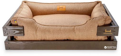 Лежак Harley and Cho Dreamer 70x50 см в деревянном каркасе Brown/Cacao (3100382) от Rozetka
