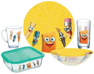 Акция на Детский набор столовой посуды Luminarc Stationery из 5 предметов (P7866) от Rozetka