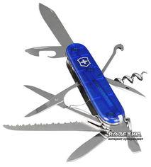 Швейцарский нож Victorinox Huntsman Blue Transpanent (1.3713.T2) от Rozetka