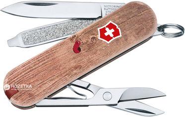 Акция на Швейцарский нож Victorinox Сlassic Woodworm (0.6223.L1706) от Rozetka