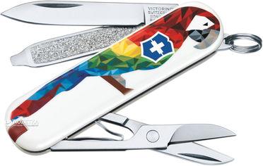 Акция на Швейцарский нож Victorinox Сlassic Guacamaya (0.6223.L1709) от Rozetka
