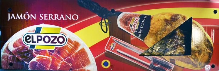 Акция на Подарочный набор Elpozo Хамон Серрано + Нож + Точилка + Хамонера вакуум 7.25 кг (8410843086222) от Rozetka