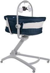Акция на Кроватка - стульчик для кормления Chicco Baby Hug Air 4 в 1 Синяя (79193.39.00) от Rozetka