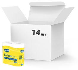 Акция на Упаковка туалетной бумаги Grite Eco Mini 350 отрывов 2 слоя 14 шт по 4 рулона (4770023113815) от Rozetka