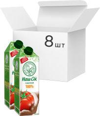 Упаковка сока ОКЗДП Наш Сок Томатный 100% сок с солью 1.43 л х 8 шт (4820003689455_4820003682142) от Rozetka