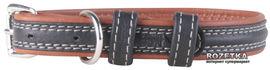 Ошейник Collar Soft 35 мм 57-71 см Черно-коричневый (7216) от Rozetka