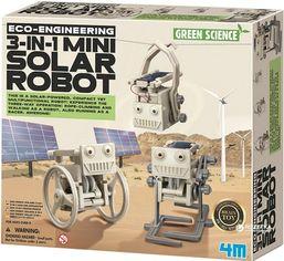 Акция на Робот на солнечной батарее 3-в-1 своими руками 4M (00-03377) от Rozetka