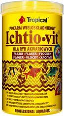 Акция на Корм Tropical Ichtio-vit для аквариумных рыб в хлопьях 1 л (5900469770061) от Rozetka