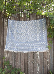 Покрывало Barine 130х170 Kilim Throw Denim (227465454) от Rozetka