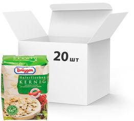 Акция на Упаковка овсяных хлопьев Bruggen Haferflocken Kernig из цельного зерна 500 г х 20 шт (4008713762198_4008713769425) от Rozetka