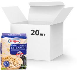 Упаковка овсяных хлопьев Bruggen Haferflocken Extrazarte из цельного зерна 500 г х 20 шт (4008713764307) от Rozetka