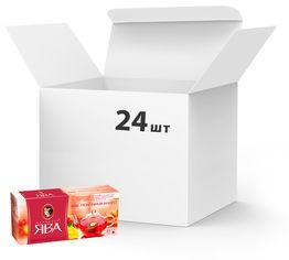 Упаковка чая каркаде пакетированного Принцесса Ява Микс клубника-манго 24 шт по 25 пакетиков (4823096806419) от Rozetka