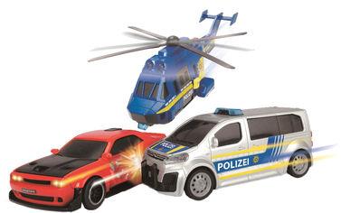 Акция на Игровой набор Dickie Toys Полицейская погоня с 2 машинами и вертолетом (3715011) (4006333059131) от Rozetka