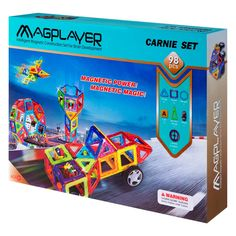 Конструктор Magplayer Магнитный набор 98 элементов (MPA-98) от Будинок іграшок