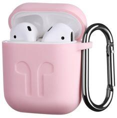 Акция на Чехол 2Е для Apple AirPods Pure Color Silicone (1.5mm) Imprint Light pink от MOYO