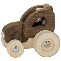 Акция на Машинка деревянная goki Трактор натуральный (55911G) от MOYO