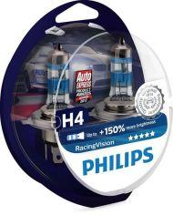 Лампа галогеновая Philips H4 RACING VISION +150% (12342RVS2) от MOYO