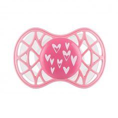 """Акция на Пустышка симметрическая Nuvita NV7085 Air55 Cool 6m+ """"сердечки"""" розовая (NV7085PY) от MOYO"""