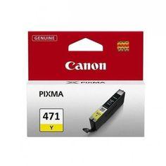 Акция на Картридж струйный CANON CLI-471Y PIXMA MG5740/MG6840 Yellow (0403C001) от MOYO