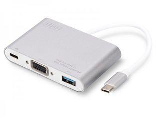 Акция на Переходник DIGITUS USB Type-C to VGA, USB 3.0, Type-C от MOYO