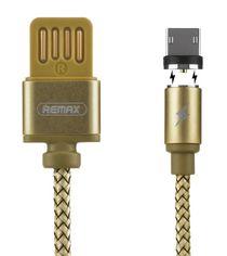 Акция на Кабель Remax Gravity Series Magnetic microUSB 1m Gold от MOYO