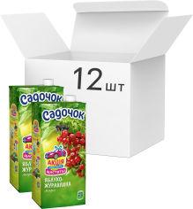 Упаковка морса Садочок из яблок и клюквы 0.95 л х 12 шт (4823063107389) от Rozetka