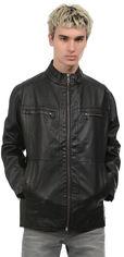 Акция на Куртка из искусственной кожи Tom Tailor tt01110078 XXL Черная (SHEK2000000304168) от Rozetka