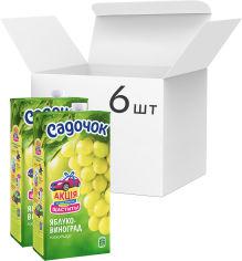 Акция на Упаковка Нектара Садочок Яблочно-виноградный нектар 1.93 л х 6 шт (4823063107563) от Rozetka