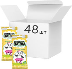 Акция на Упаковка салфеток влажных для рук Снежная Панда Ромашка Kids 48 пачек по 15 шт (4820183970510) от Rozetka