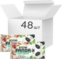 Акция на Упаковка салфеток влажных Снежная панда для рук Орхидея 48 пачек по 15 шт (4823019010695) от Rozetka