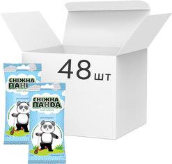 Акция на Упаковка салфеток влажных для рук Снежная Панда Антимикробных Kids 48 пачек по 15 шт (4820183970497) от Rozetka
