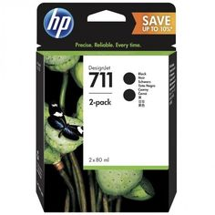 Акция на Картридж струйный HP No.711 DesignJet 120/520 Black, 2*80ml Двойная упаковка (P2V31A) от MOYO
