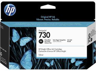 Акция на Картридж струйный HP No. 730 DesignJet T1600/T1700/T2600 Photo Black, 130 ml (P2V67A) от MOYO