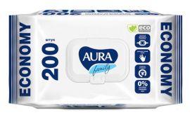 Влажные салфетки Aura Family Освежающие, 200 шт. от Pampik