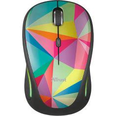 Акция на Мышь TRUST Yvi FX wireless mouse geometrics (22337) от Foxtrot