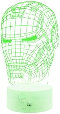 Ночник 3D Lamp Illusion (Iron Man mask) от Citrus