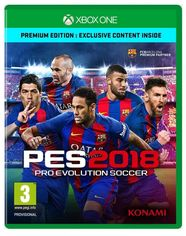 Диск Pro Evolution Soccer (PES) 2018 - Premium Edition (Blu-ray, English version) для Xbox от Citrus