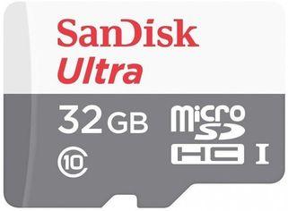 Акция на Карта памяти Sandisk microSDHC 32GB Class 10 UHS-I Ultra R48MB/s от MOYO