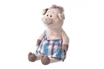 Акция на Мягкая игрушка Same Toy Свинка  в комбинезоне 45 сантиметров (THT706) от MOYO