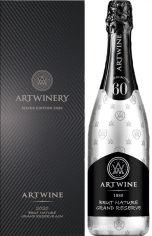 Акция на Вино игристое Artwine белое брют брют натюр 0.75 л 10-13.5% в подарочной упаковке (4820176062635) от Rozetka