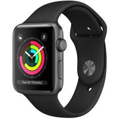 Акция на Смарт-часы APPLE Watch Series 3 GPS 38mm Space Grey Aluminium Case with Black Sport Band (MTF02FS/A) от Foxtrot