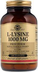 Аминокислота Solgar Лизин 1000 мг L-Lysine 100 таблеток (033984017016) от Rozetka