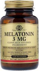Аминокислота Solgar Мелатонин 3 мг 120 таблеток (033984019355) от Rozetka
