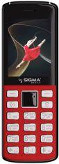 Акция на Мобільний телефон Sigma mobile X-style 24 Onyx Red от Територія твоєї техніки