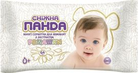 Влажные салфетки Снежная Панда Ромашка, для новорожденных, 64 шт. от Pampik