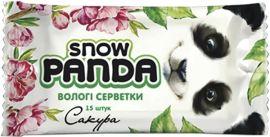 Влажные салфетки Снежная Панда Сакура, для рук, 15 шт. от Pampik